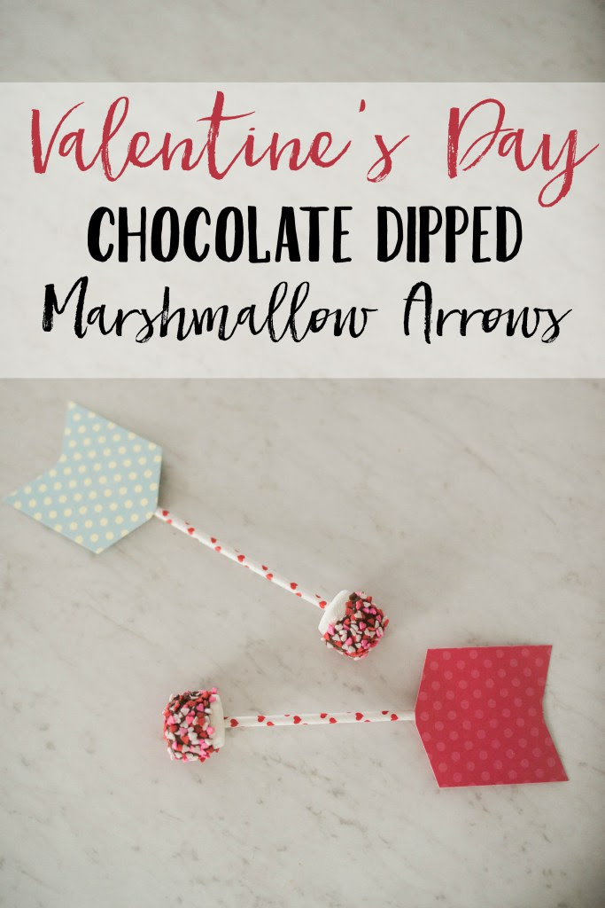 Valentine's Day Chocolate dipped marshmallow arrows by Lauren McBride