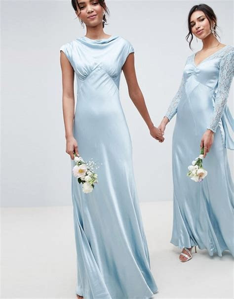 Ghost bridesmaid maxi dress with cowl neck   ASOS