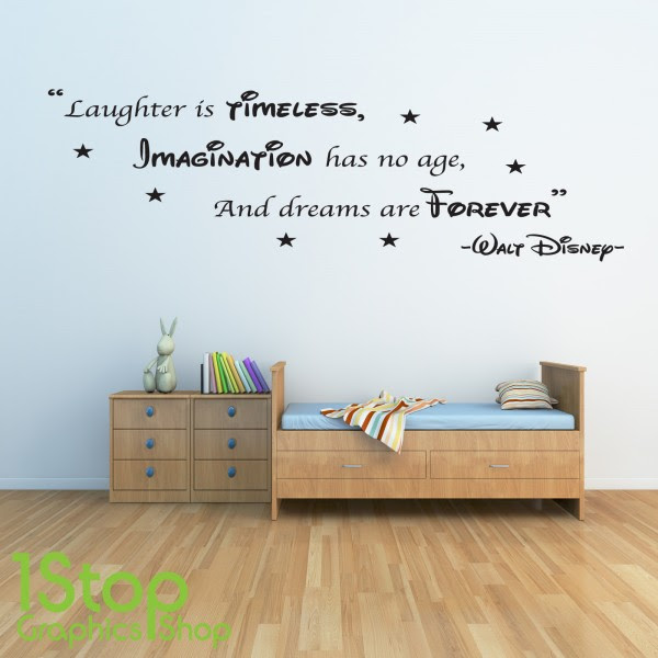 WALT DISNEY WALL STICKER QUOTE  KIDS BOYS GIRLS HOME WALL ART DECAL X133  1stopgraphicsshop