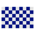 Royal Blue and White Checkered Pattern