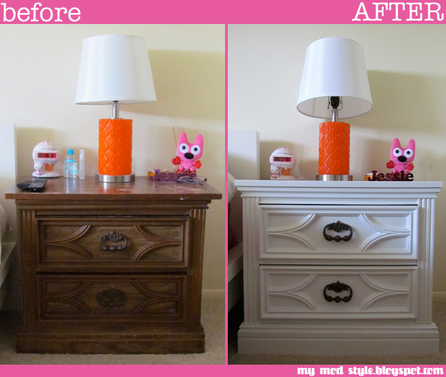 BASE BEDROOM Painted Nightstands1