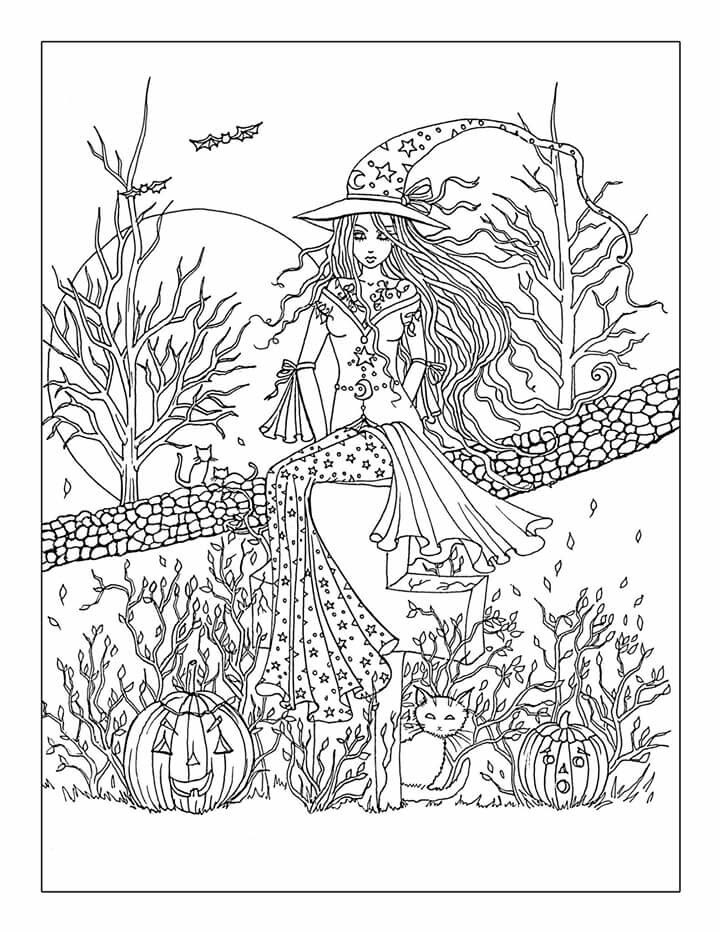 Free Printable Halloween Coloring Page Adults AZ Coloring ...