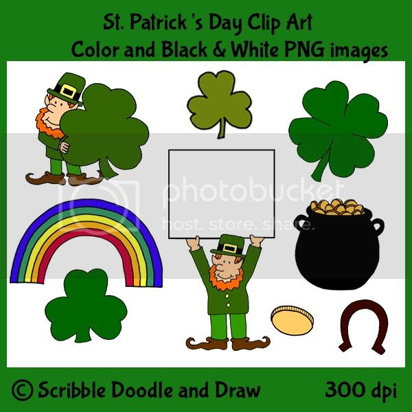 St. Patrick's day clip art for TPT teachers and bloggers making resources