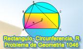 Problema de Geometría 1046 (English ESL): Rectángulo, Circunferencia Circunscrita, Relaciones Métricas.