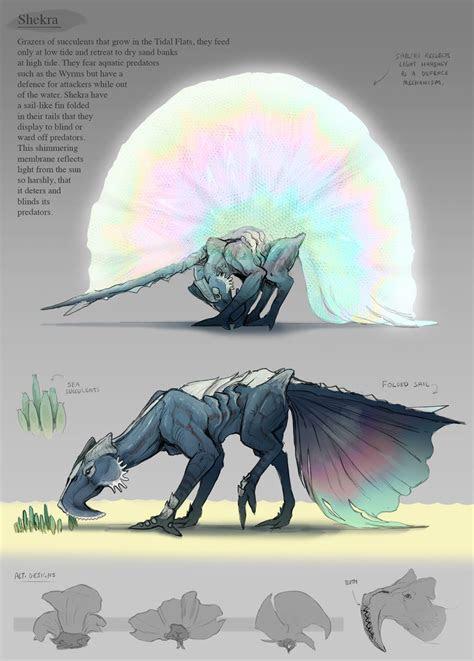 artstation sailfin cze peku art fantasy creatures
