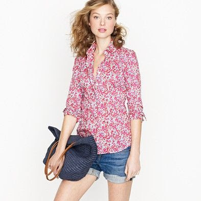 J.Crew Perfect shirt in Liberty Art Fabrics floral