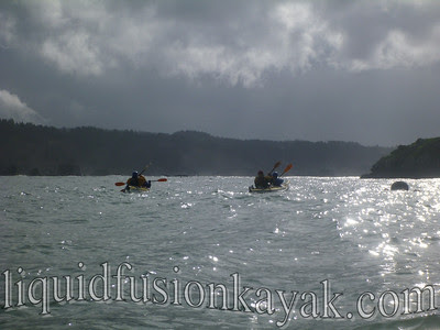 On tour in Trinidad Bay with Hawk Martin of Humboats.