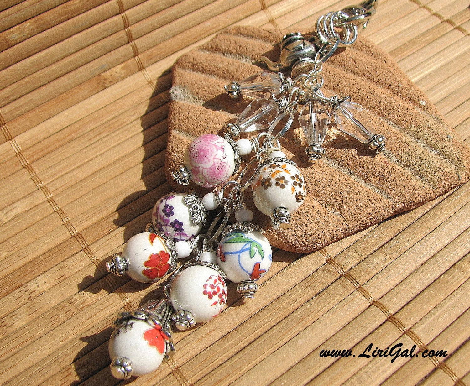 Chinese Porcelain Vintage Style Keychain
