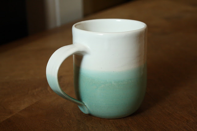 caribe & white simple mug
