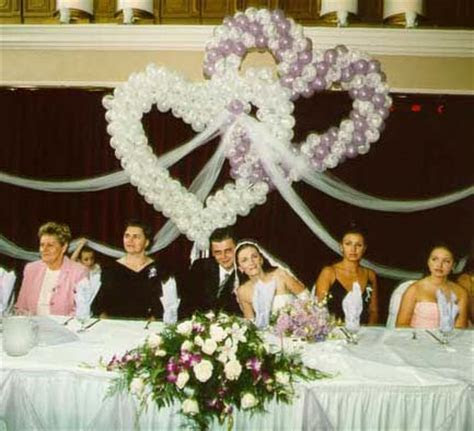 Wedding and Wedding Reception balloon and fabric decorations