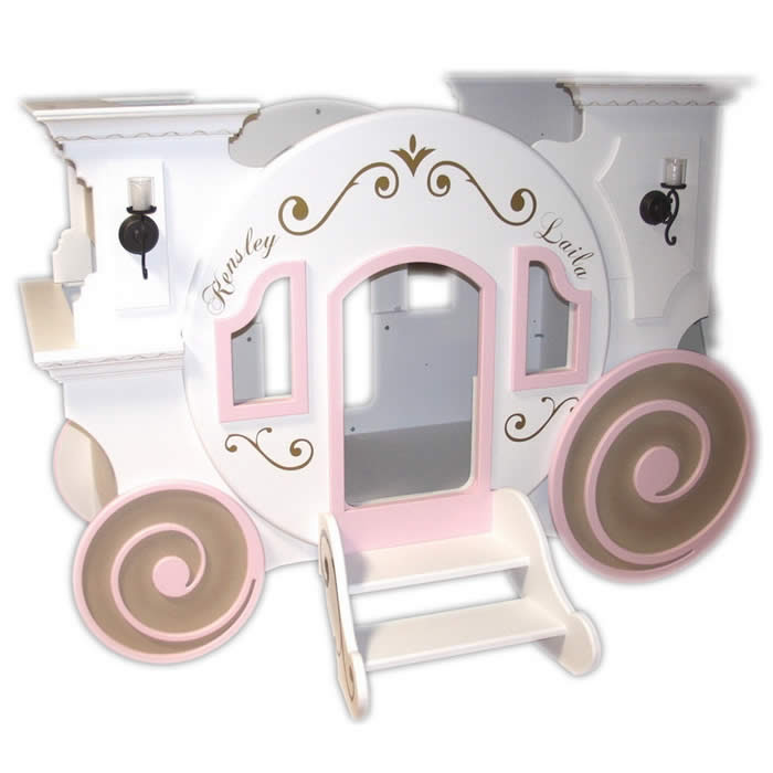Princess Cinderella's Carriage Bunk Bed