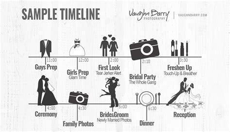 Wedding Day Timeline 4pm Ceremony   Unique Wedding Ideas