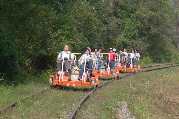 Perierga.gr - Το τρενοποδήλατο «ζωντανεύει» τις ράγες