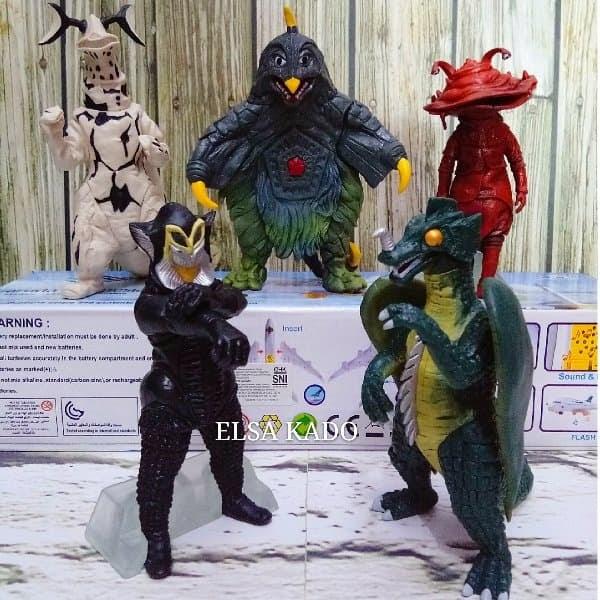 BELI mainan boneka figure ultraman Monster set 5 miniatur power ranger ca51de9a17