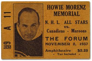 Morenz Memorial Game ticket