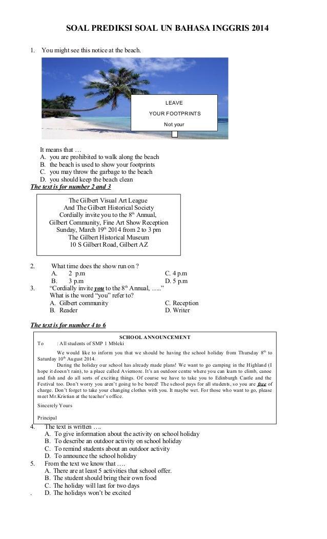Soal Prediksi Un Smp Bahasa Indonesia  myideasbedroom.com