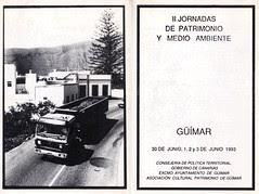 II Jornadas de Patrimonio y Medio Ambiente 1993 exterior