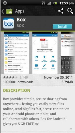 Sony Ericsson Xperia phones now getting 50GB of storage on Box.net