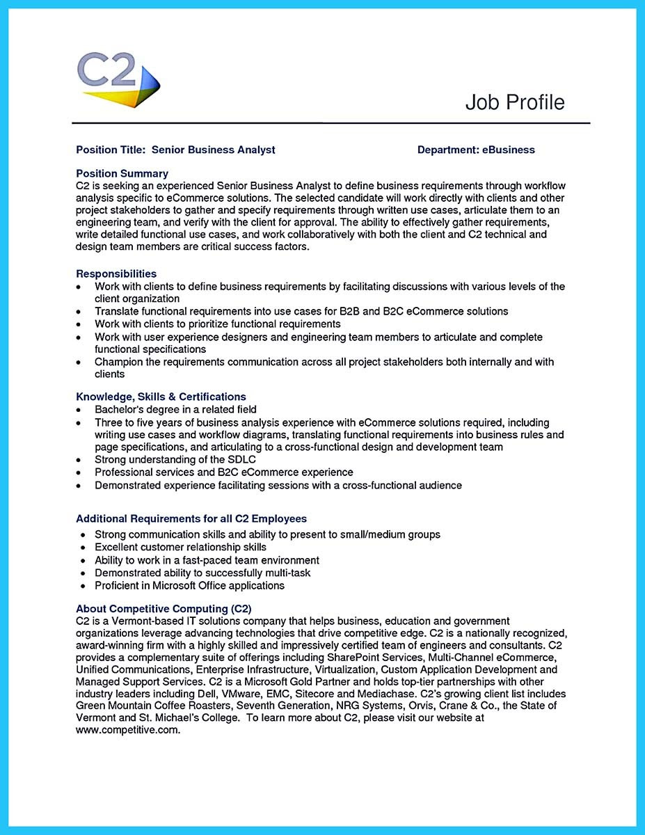 Business Analyst Resume Sample Pdf Best Resume Examples