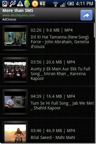 AndroVid Video Import