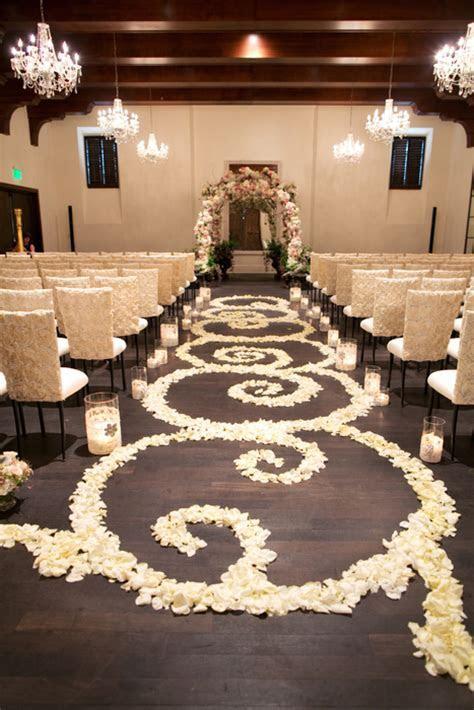 Rose Petal Wedding Aisle   Elizabeth Anne Designs: The