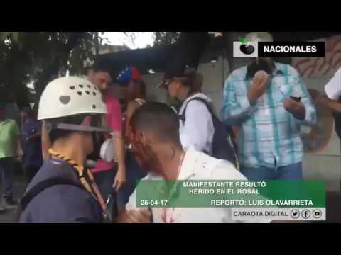 Manifestante Resultó Herido En Protesta En El Rosal