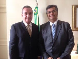 Luis Fernando e Flávio Dino no Palácio dos Leões