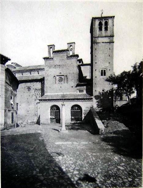 Iglesia de Santiago de El Arrabal en 1926. Fotografía de Vincent (Breal et cie.)