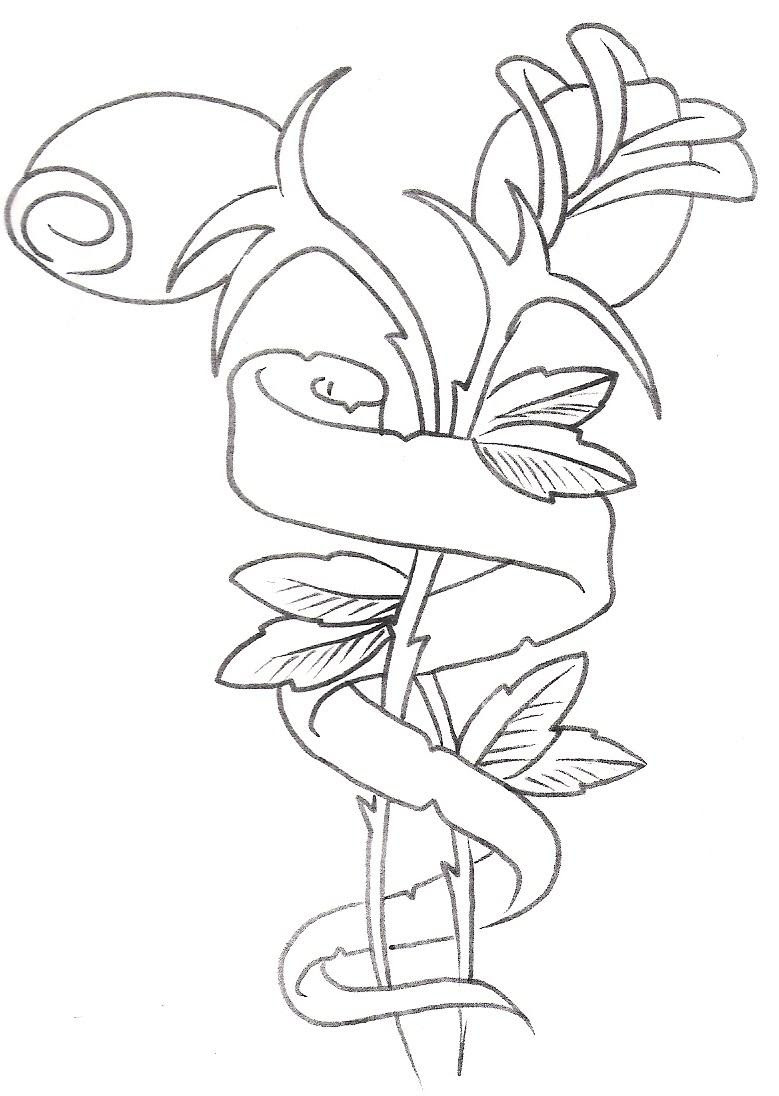 Flower Tattoo Drawing At Getdrawingscom Free For Personal Use