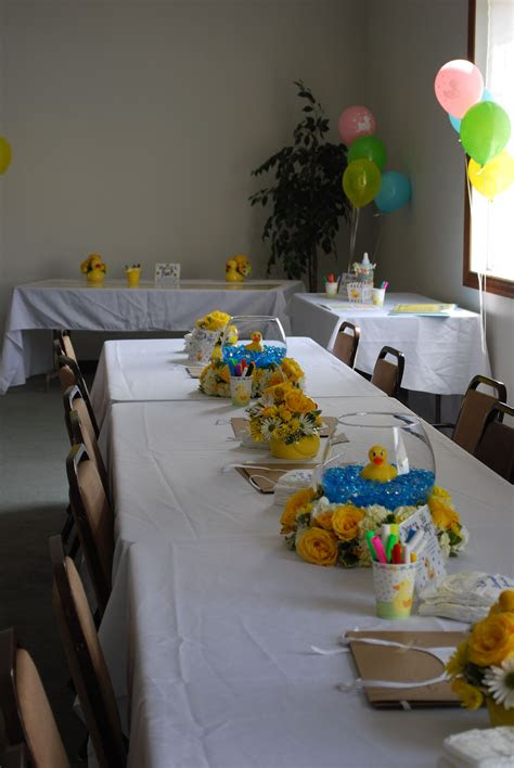 rubber duck baby shower gender neutral table settings