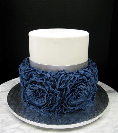 Navy Blue Ruffle Rose ? Mother Mousse