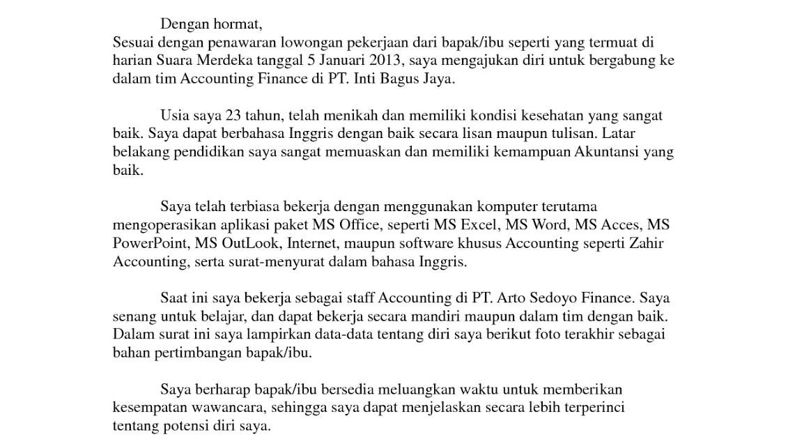 Contoh Surat Dalam Bahasa Inggris Dan Indonesia ...