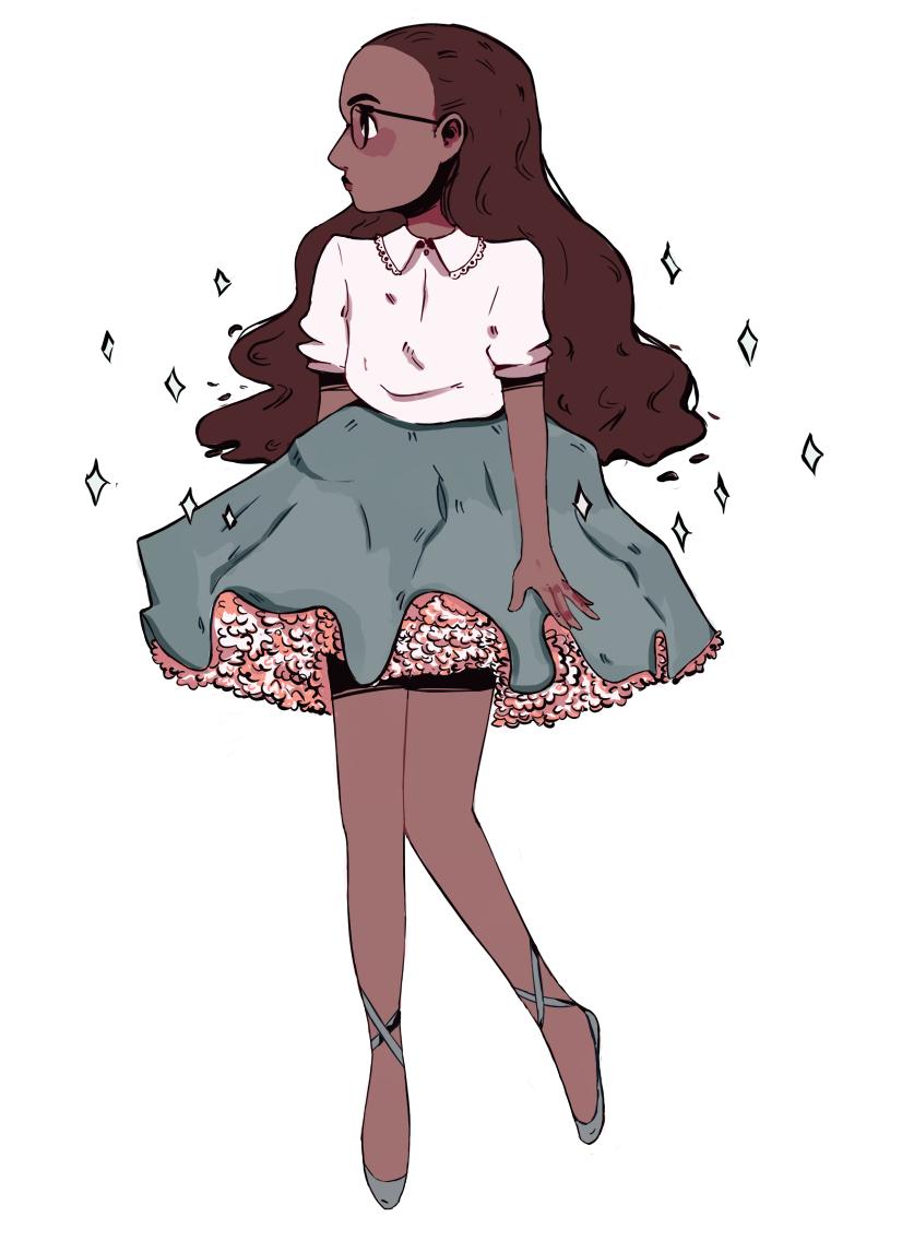 fluffy skirt,,