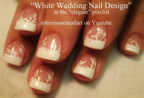 Nail Art by Robin Moses: White Flower Nails, Perfect