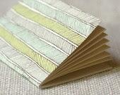 Jotter, Pocket Notebook, Mini Journal - Herringbone - witandwhistle
