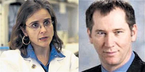 Ana María González y George Blumenschein, médico estadounidense.