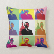 President Obama Pop Art Pillow