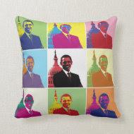 President Obama Pop Art Pillow