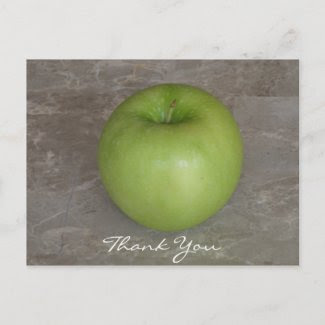 Green Apple Thank You Postcard postcard