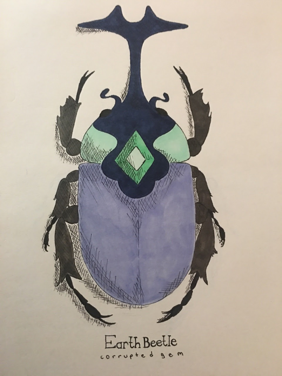 I really liked that the earth beetle and the heaven beetle were like the Japanese horned beetle, I just really love beetles in general