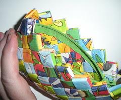 Zipper stitching detail