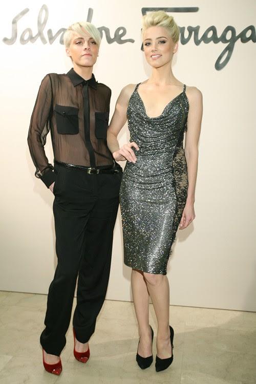 4 - SALVATORE FERRAGAMO Fashion Show vom 20.Oktober in Moskau Whitney Heard-Amber Heard - Gettyimages high res