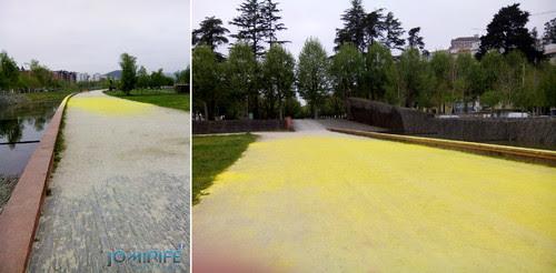 Checkpoint Amarelo do Color Run Coimbra 2016 no Parque Verde do Mondego