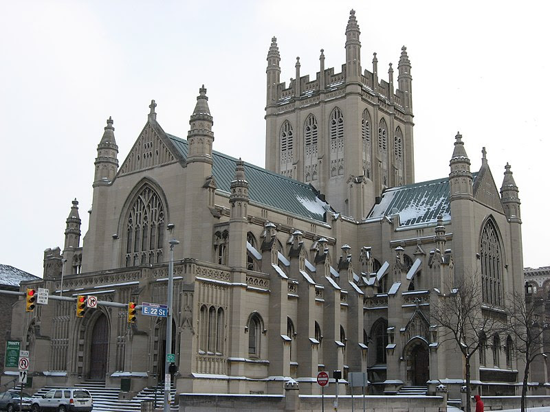 File:Trinity Cathedral in Cleveland, front, closeup.jpg