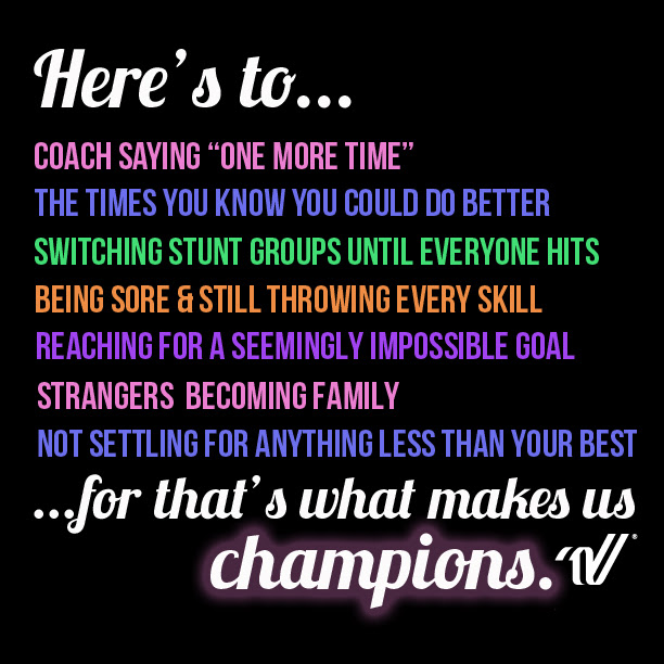 Inspirational Quotes For Competition Cheerleader - Sacin Quotes