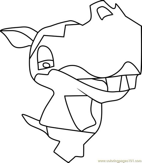 clara animal crossing coloring page  animal crossing