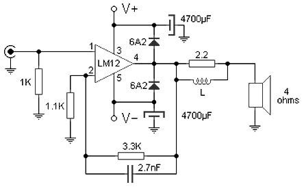100w audio amplifier circuit diagram datasheet