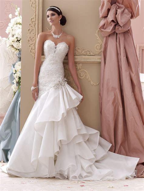 17 Best ideas about Ruffle Wedding Dresses on Pinterest