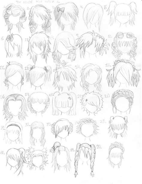 hand drawn hair styles page  arts crafts  kids