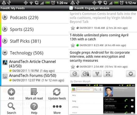Aplikasi RSS Android terbaik